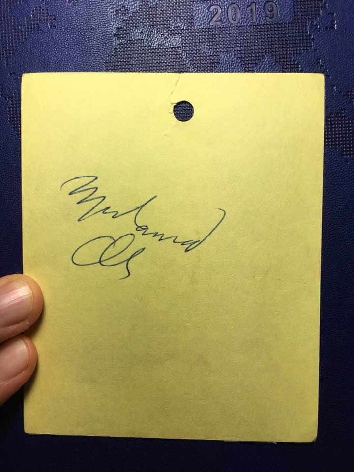 Muhammad Ali autograph 1979 LA